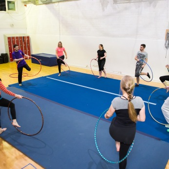 Hula hoop in group