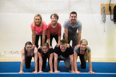 team building, trust, fun, human pyramid